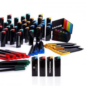 WERBESET Black Colours 460 Teile inklusive einfarbigem Werbedruck