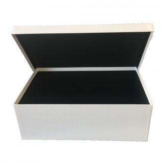 Klappdeckel-Karton klein weiss 25,5 x 18 x 10 cm
