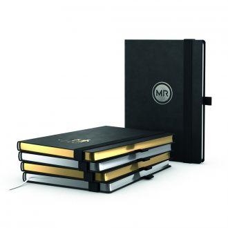 COMPLETE Silver Book Notizbuch DIN A5 inklusive Prägung, 192 Seiten