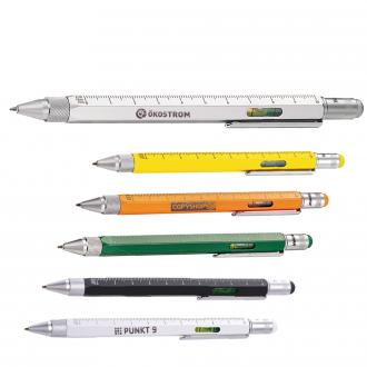 TROIKA Construction-Pen - Metallkugelschreiber mit 6 Funktionen