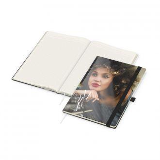 Match Book A4 White Complete Gummiband schwarz