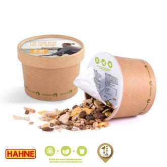 Schoko-Müslibecher aus Naturkarton, inklusive Werbedruck, 45g