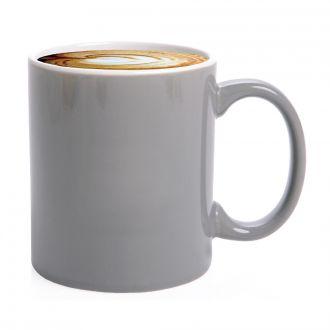 Kaffeebecher Carina grau/weiß ohne Druck im Einzelkarton