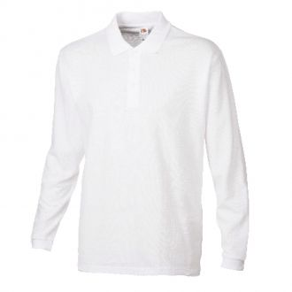 FRUIT OF THE LOOM New Premium Longsleeve Polo Shirt Weiß