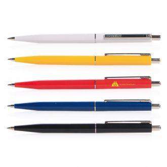 SENATOR Kugelschreiber Point mit Metalldrücker, Metall-Clip, und -spitze