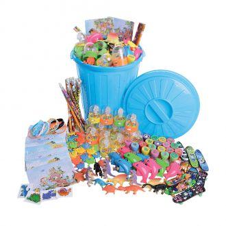 Spielzeugeimer mit 150 Kinderspielsachen, bunt sortiert