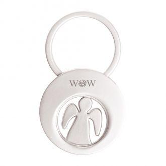 Schlüsselanhänger Angela mit Schutzengel und Einkaufswagen-Chip