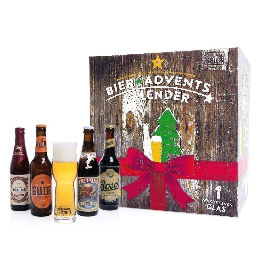 Bier Weihnachtskalender.Bier Adventskalender Holzoptik